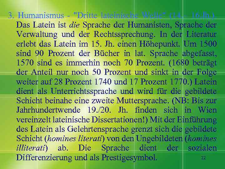 3. Humanismus -