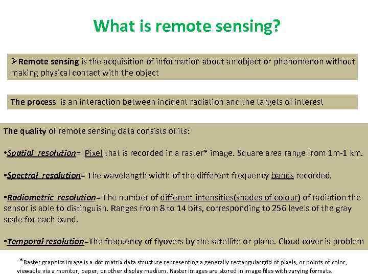 Welcome to the Remote Sensing world Tutor Despoina