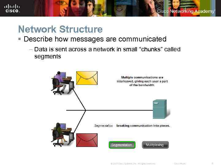 Network Structure § Describe how messages are communicated – Data is sent across a