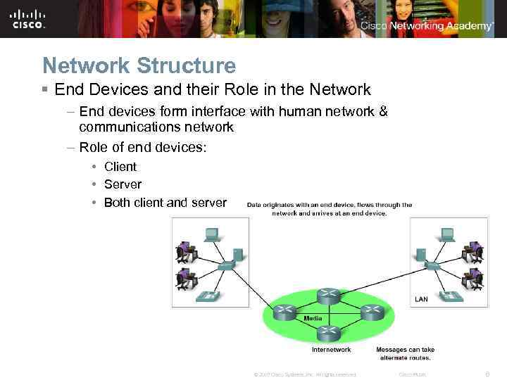 Network Structure § End Devices and their Role in the Network – End devices