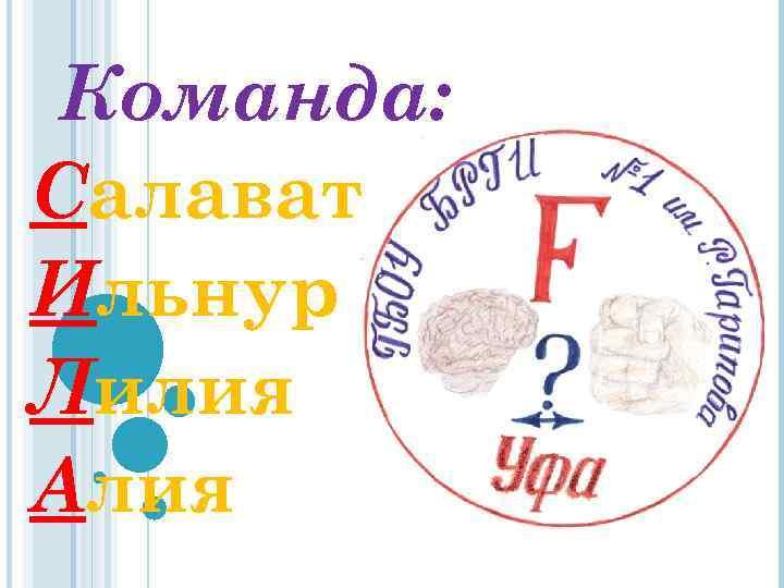 Команда: Салават Ильнур Лилия Алия