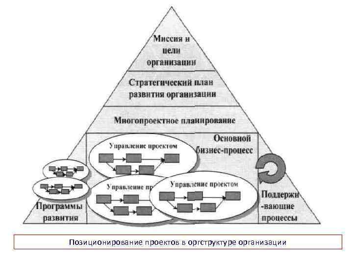 Позиционирование проектов в оргструктуре организации