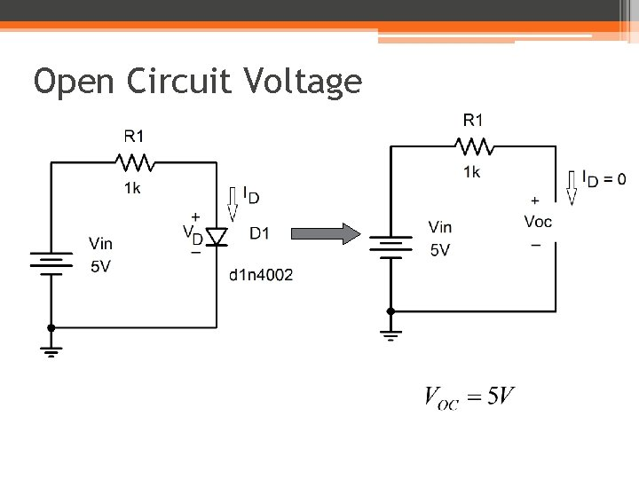 Open Circuit Voltage