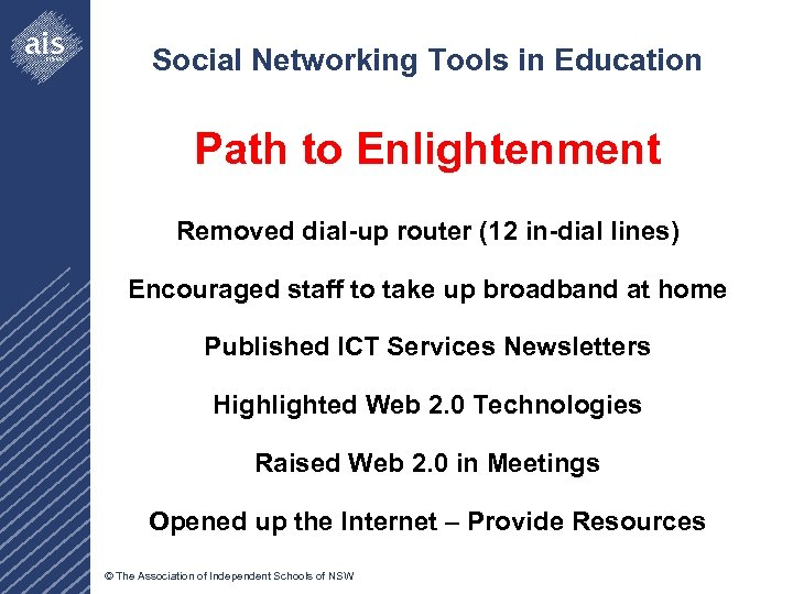 Social Networking Tools in Education Path to Enlightenment Removed dial-up router (12 in-dial lines)