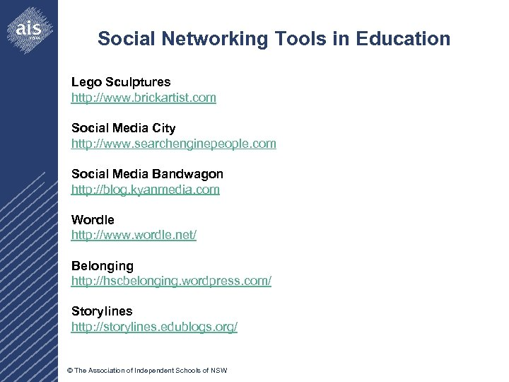 Social Networking Tools in Education Lego Sculptures http: //www. brickartist. com Social Media City