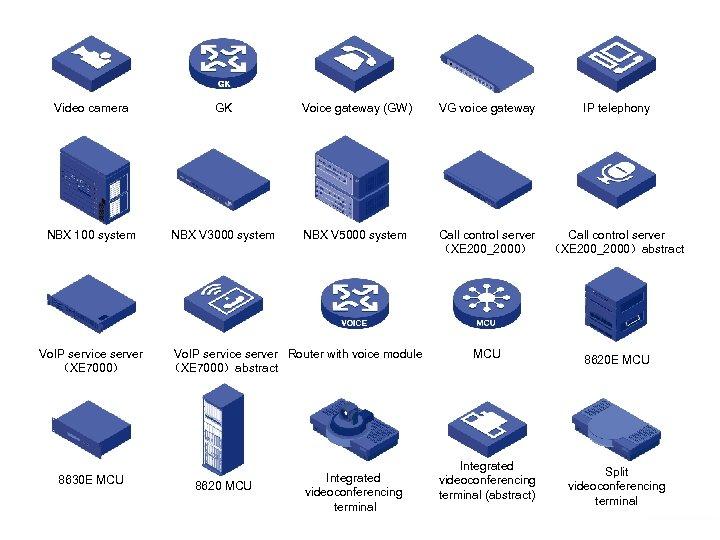 Video camera GK Voice gateway (GW) VG voice gateway IP telephony NBX 100 system
