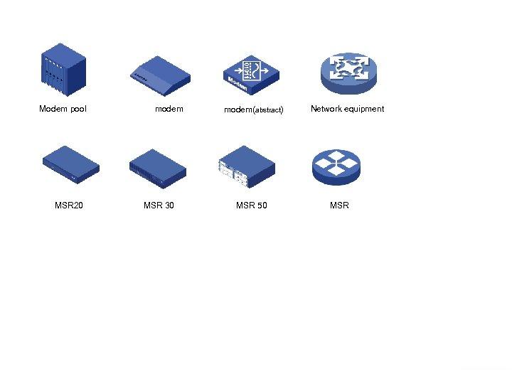 Modem pool MSR 20 www. h 3 c. com modem MSR 30 modem(abstract) MSR