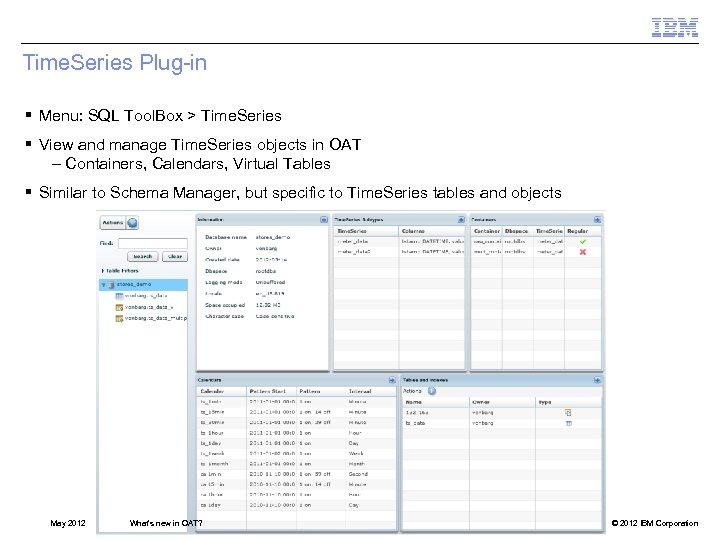 Time. Series Plug-in § Menu: SQL Tool. Box > Time. Series § View and