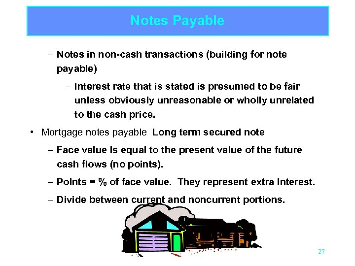 Notes Payable – Notes in non-cash transactions (building for note payable) – Interest rate