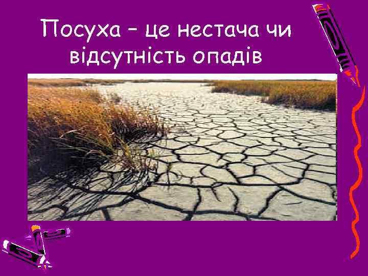 Посуха – це нестача чи відсутність опадів