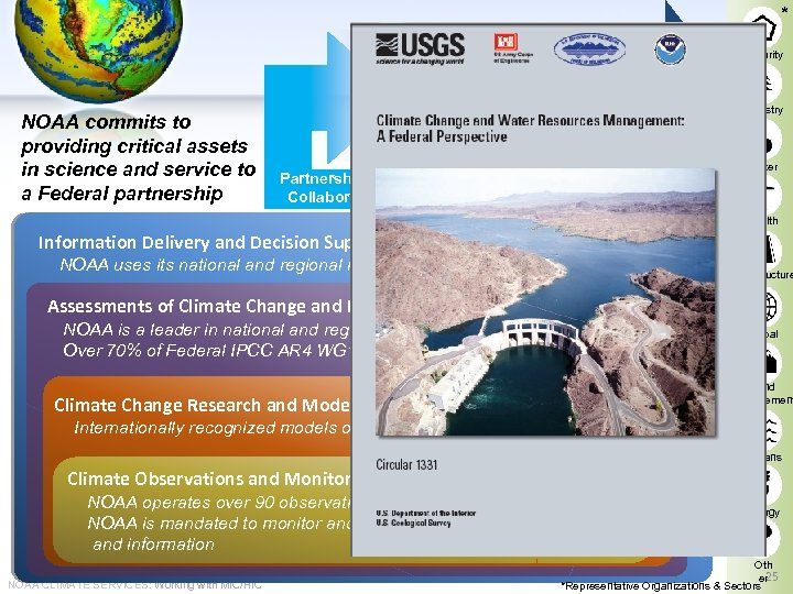 * * NOAA commits to providing critical assets in science and service to a