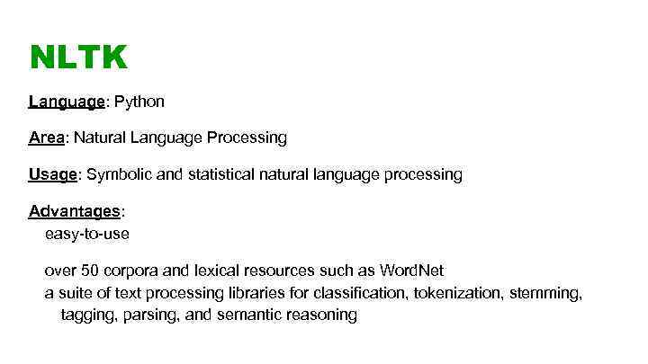 Definition Natural language processing is a field