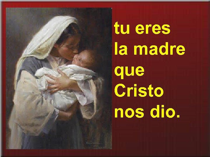 tu eres la madre que Cristo nos dio.