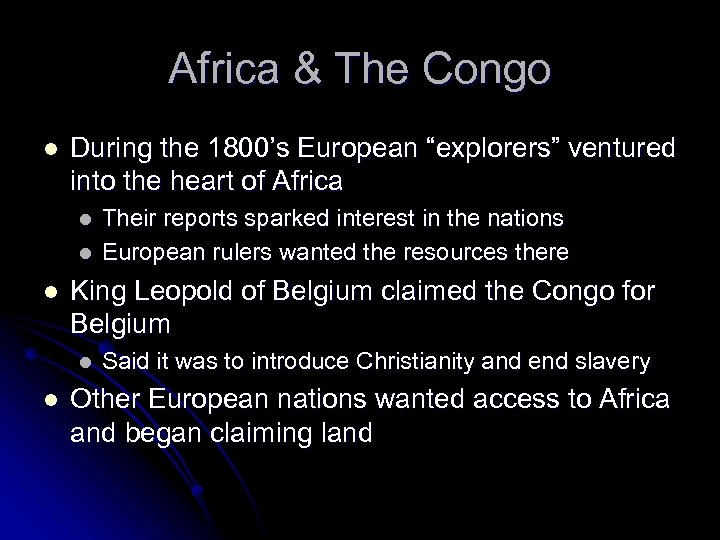 """Africa & The Congo l During the 1800's European """"explorers"""" ventured into the heart"""