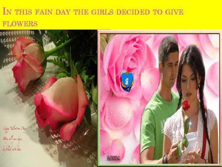 IN THIS FAIN DAY THE GIRLS DECIDED TO GIVE FLOWERS