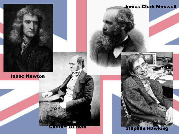 James Clerk Maxwell Isaac Newton Charles Darwin Stephen Hawking