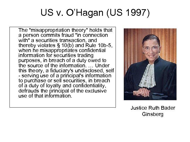 US v. O'Hagan (US 1997) The