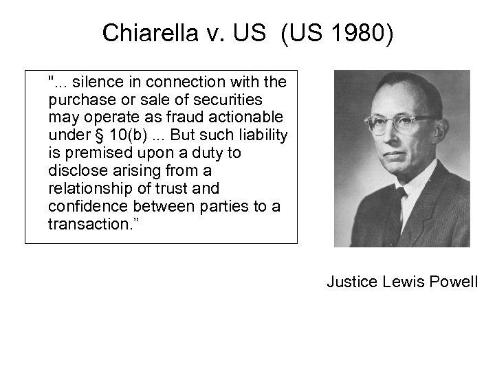 Chiarella v. US (US 1980)