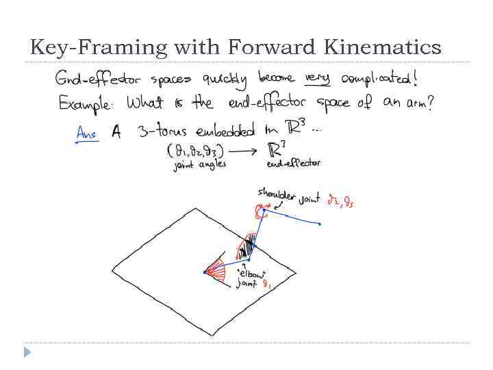 Key-Framing with Forward Kinematics