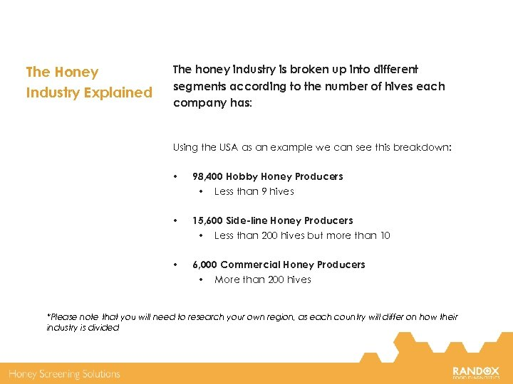 The Honey Industry Explained The honey industry is broken up into different segments according