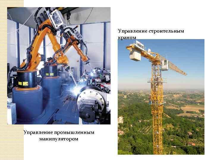 Управление строительным краном Управление промышленным манипулятором