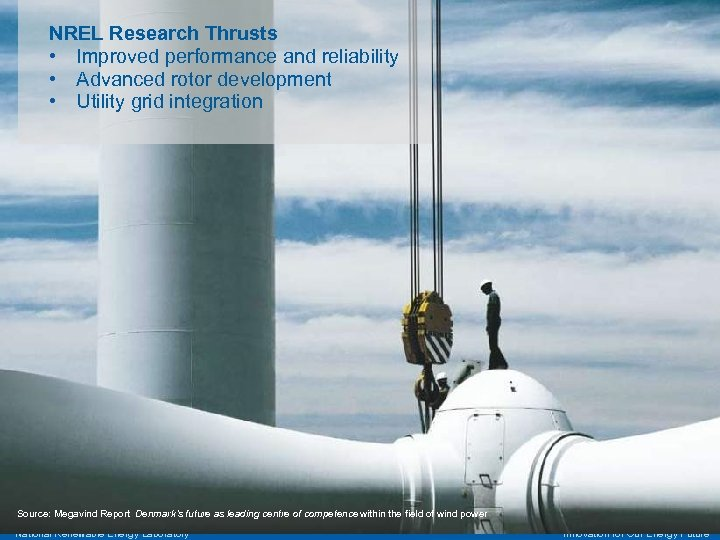 NREL Research Thrusts • Improved performance and reliability • Advanced rotor development • Utility