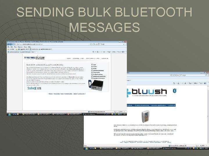 SENDING BULK BLUETOOTH MESSAGES