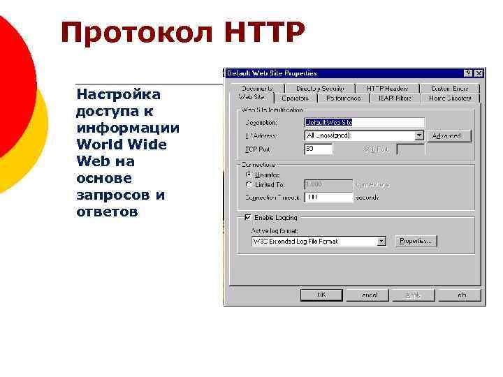 Протокол HTTP Настройка доступа к информации World Wide Web на основе запросов и ответов