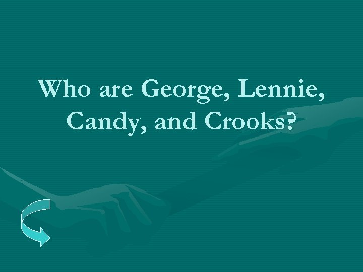 Who are George, Lennie, Candy, and Crooks?