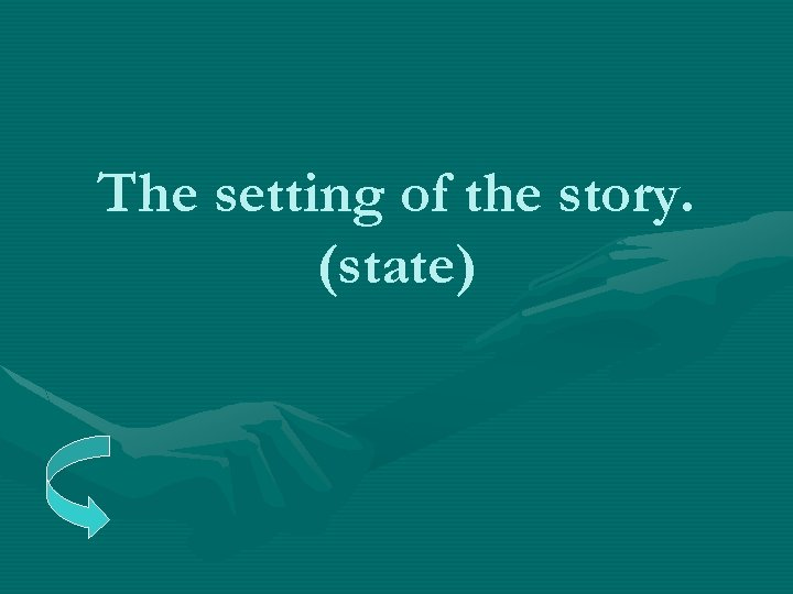 The setting of the story. (state)