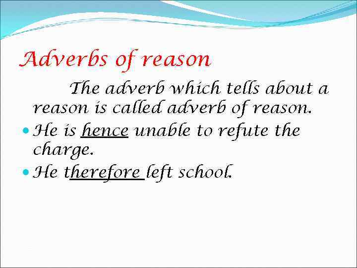 Adverbs In The Parts Of Speech Adverb