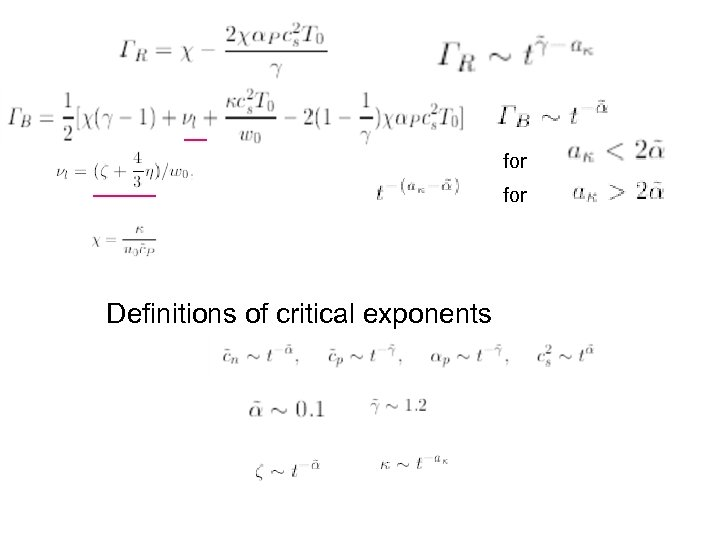 for Definitions of critical exponents