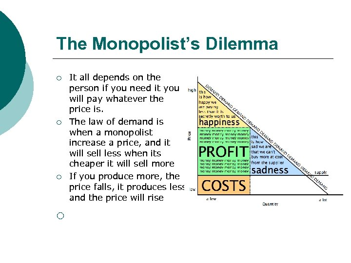 The Monopolist's Dilemma ¡ ¡ It all depends on the person if you need