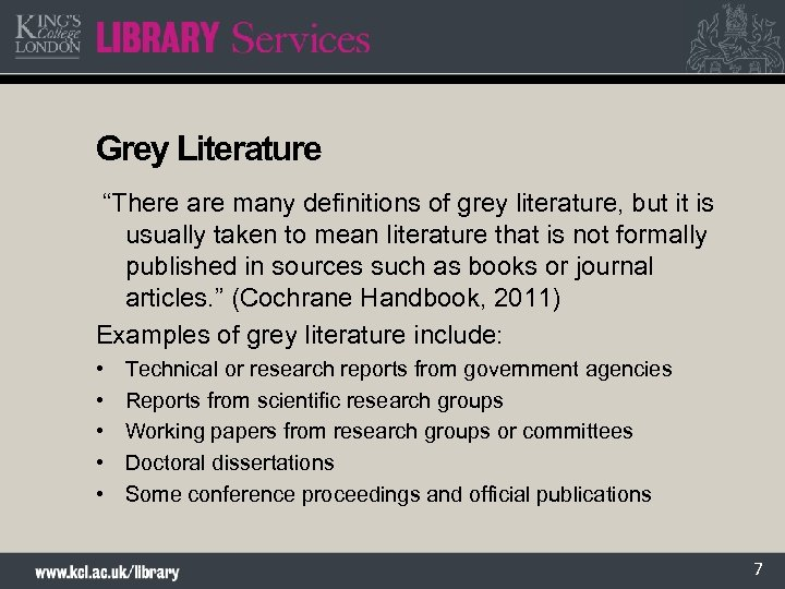 """Grey Literature """"There are many definitions of grey literature, but it is usually taken"""