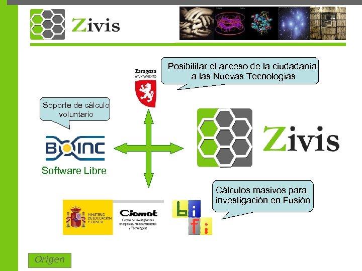 Posibilitar el acceso de la ciudadanía a las Nuevas Tecnologías Soporte de cálculo voluntario