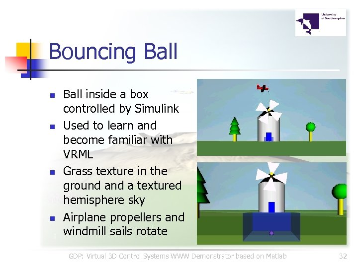 Bouncing Ball n n Ball inside a box controlled by Simulink Used to learn