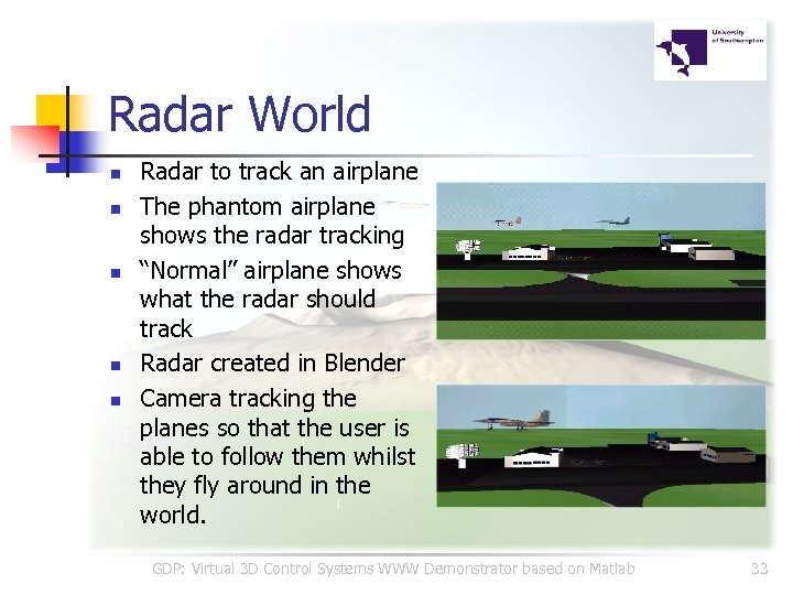 Radar World n n n Radar to track an airplane The phantom airplane shows