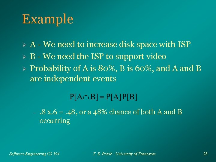 Example Ø Ø Ø A - We need to increase disk space with ISP