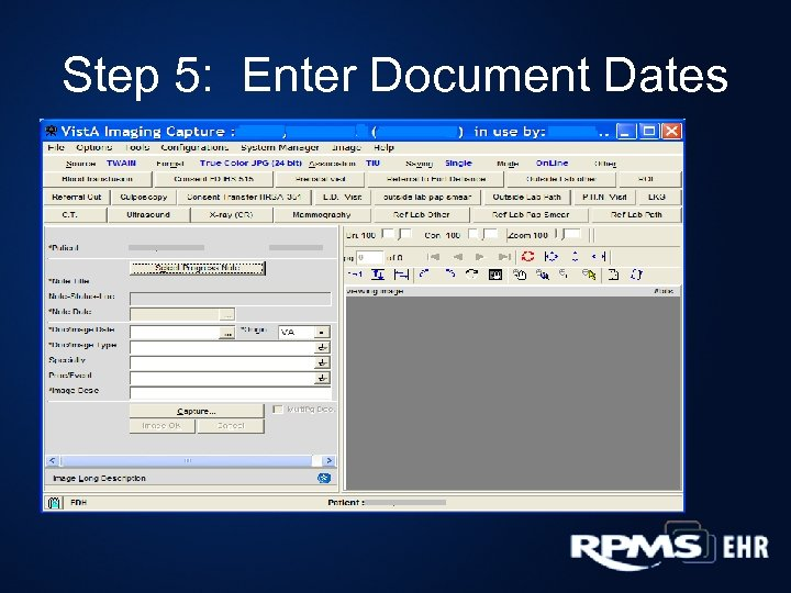 Step 5: Enter Document Dates