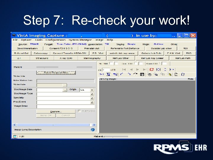 Step 7: Re-check your work!