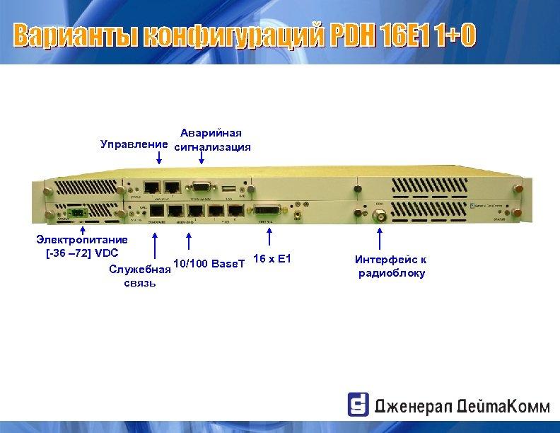 Аварийная Управление сигнализация Электропитание [-36 – 72] VDC 10/100 Base. T 16 x E