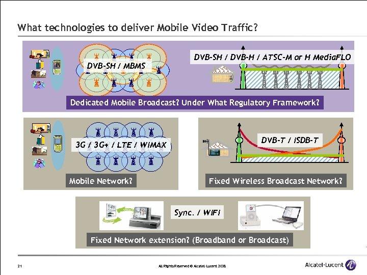 What technologies to deliver Mobile Video Traffic? DVB-SH / DVB-H / ATSC-M or H