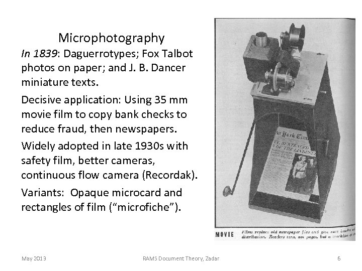 Microphotography In 1839: Daguerrotypes; Fox Talbot photos on paper; and J. B. Dancer miniature