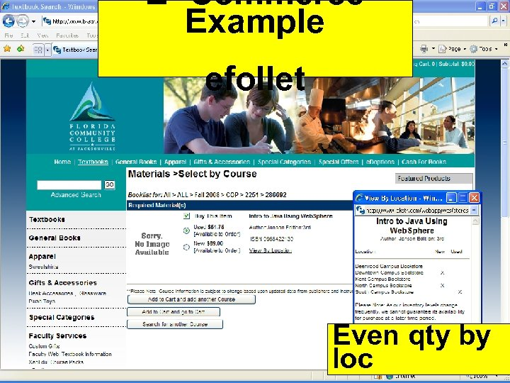 E- Commerce Example efollet Even qty by loc 54 Copyright 2012 by Janson Industries