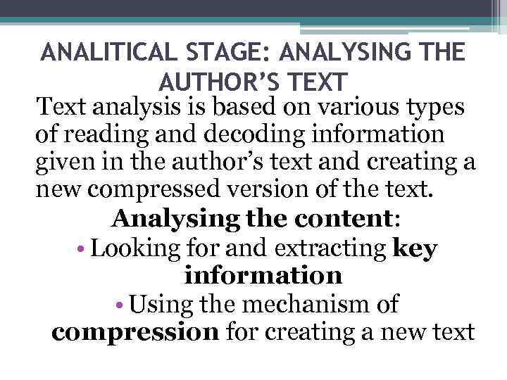 text analysis can can Learn more about scholars who utilize content analysis techniques and to see an overview of content analysis can use computer-aided text analysis to.