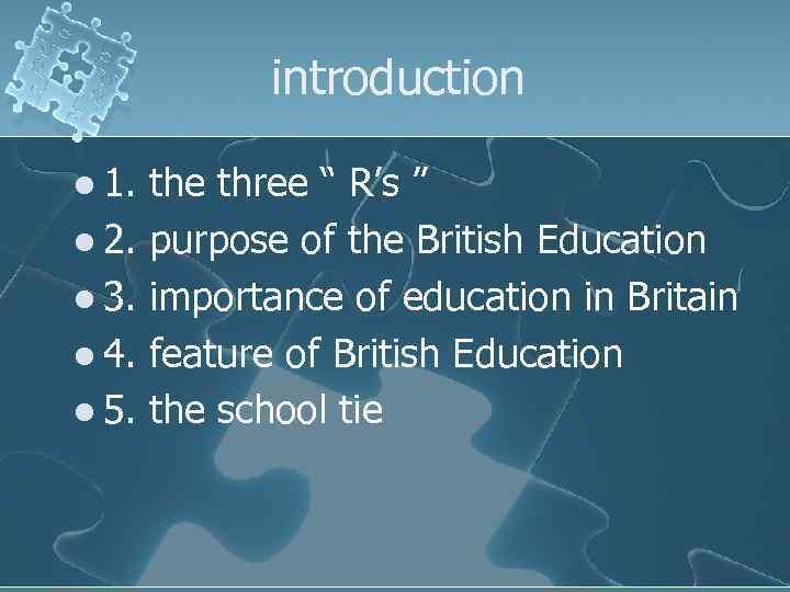 """introduction l 1. l 2. l 3. l 4. l 5. the three """""""