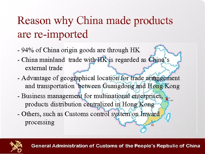 Reason why China made products are re-imported - 94% of China origin goods are