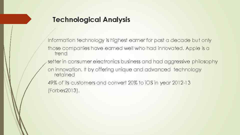 Technological Analysis Information technology is highest earner for past a decade but only those