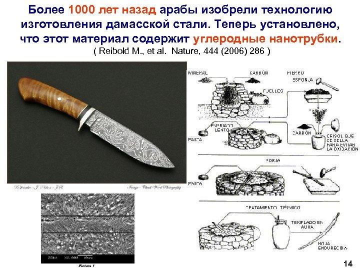 Более 1000 лет назад арабы изобрели технологию изготовления дамасской стали. Теперь установлено, что этот