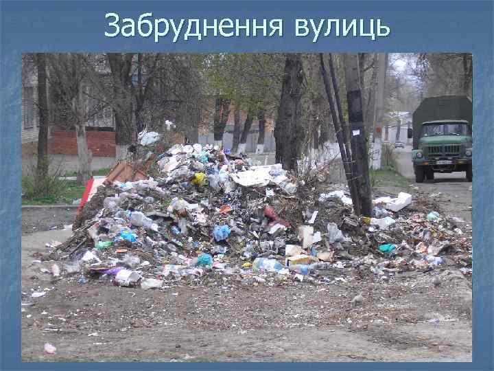 Забруднення вулиць